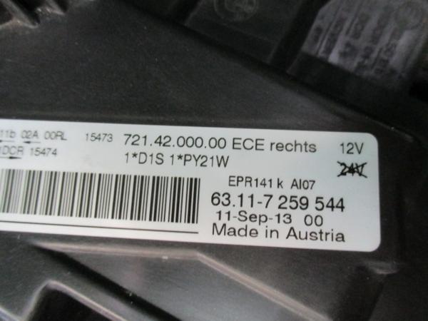 35483◆BMW 3シリーズ F30 HID右ヘッドライトユニット◆_画像4