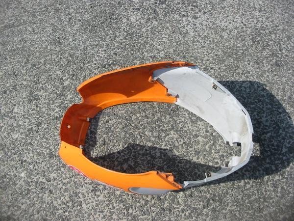 レッッツ4 パレット CA41A リヤーカバーセット オレンジ 純正品 中古品_画像3