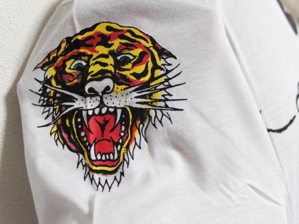 エドハーディー ED HARDY メンズ半袖Tシャツ ホワイト Lサイズ HB148 新品_画像2