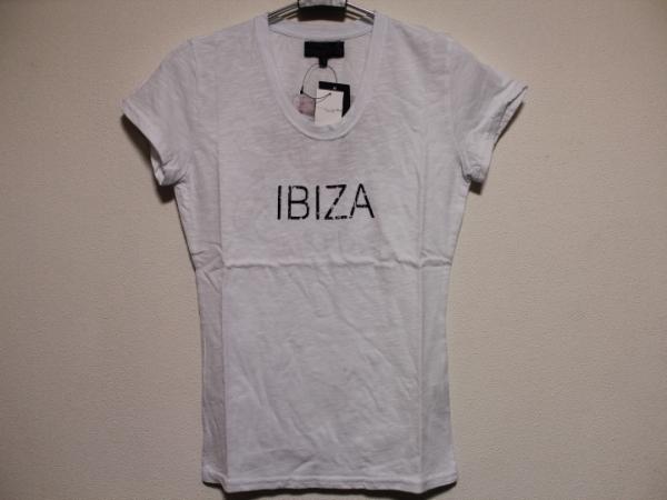 エドハーディー ED HARDY レディース半袖Tシャツ ホワイト Sサイズ SP052 新品_画像1