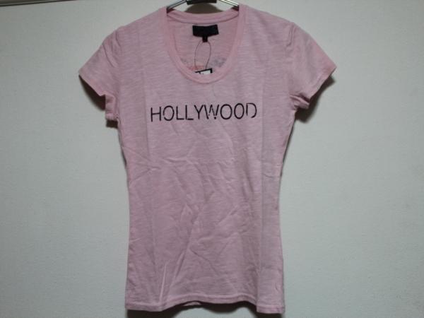 エドハーディー ED HARDY レディース半袖Tシャツ ピンク Sサイズ US052 新品_画像1
