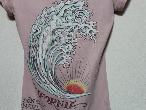 エドハーディー ED HARDY レディース半袖Tシャツ ピンク Sサイズ UR179 新品_画像3