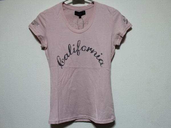 エドハーディー ED HARDY レディース半袖Tシャツ ピンク Sサイズ UR179 新品_画像1