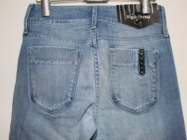 ブラックオーキッド BLACK ORCHID レディースデニムパンツ ジーンズ Clear Ice 26インチ 新品 BLACK JEWEL SKINNY LEG_画像3