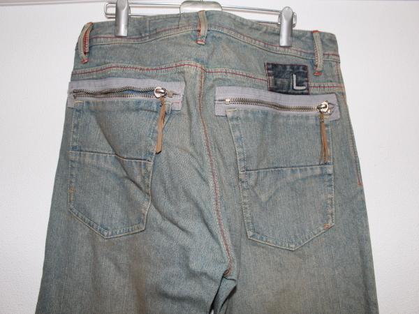 ライン LINE メンズデニムパンツ ブルー 34インチ ストレートジーンズ 新品_画像4