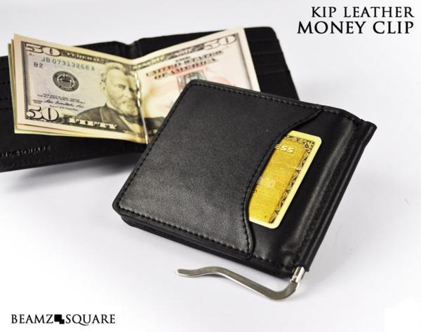 f78578e9d598 代購代標第一品牌- 樂淘letao - 紳士の必需品マネークリップブランドBEAMZ SQUARE 財布メンズ二つ折り革札挟みチビ財布 カードケース定期入れ黒新品箱付き☆