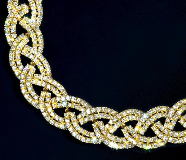 D1784 雲上!【PIAGET】ピアジェ 絶品ダイヤモンド 最高級18金無垢スーパーセレブリティネックレス 長さ41cm 重量96.5g 幅13.5mm_画像2