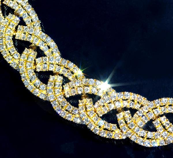 D1784 雲上!【PIAGET】ピアジェ 絶品ダイヤモンド 最高級18金無垢スーパーセレブリティネックレス 長さ41cm 重量96.5g 幅13.5mm_画像1