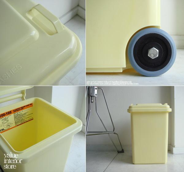ゴミ箱 ダストボックス ごみ箱 プラスティック製 くずかご くず入れ 屑籠 アメリカン 屋外OK ◆V_S House◆D キャスターダストIV_画像2