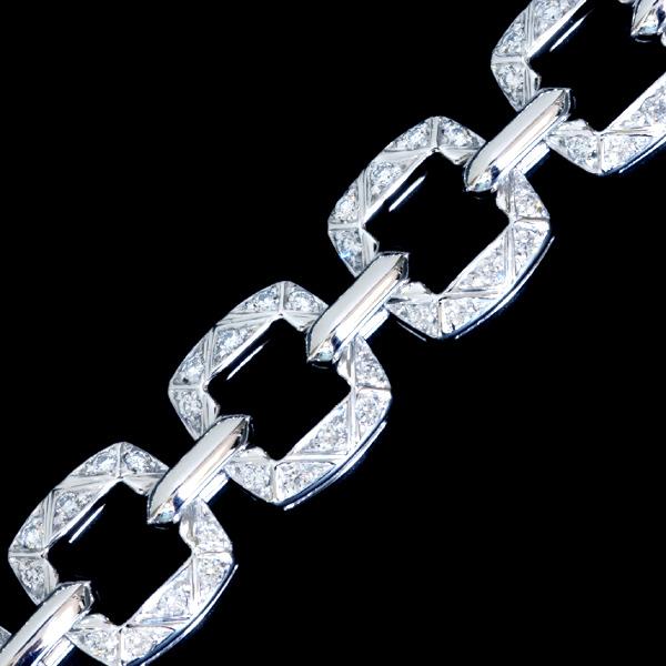B8978【Asprey】アスプレイ 絶品全面ダイヤモンド 最高級18金無垢セレブリティネックレス 長さ41.5cm 重さ83.5g 幅9.7mm_画像1