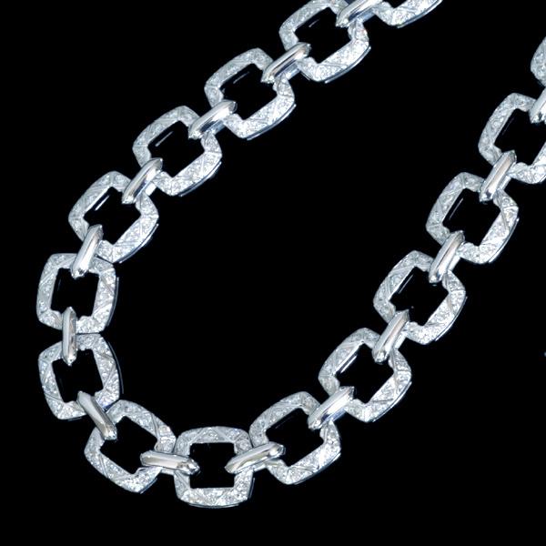B8978【Asprey】アスプレイ 絶品全面ダイヤモンド 最高級18金無垢セレブリティネックレス 長さ41.5cm 重さ83.5g 幅9.7mm_画像2