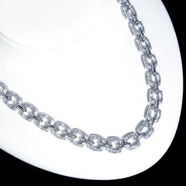 B8978【Asprey】アスプレイ 絶品全面ダイヤモンド 最高級18金無垢セレブリティネックレス 長さ41.5cm 重さ83.5g 幅9.7mm_画像4