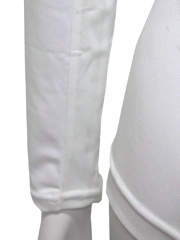 【40%OFF!セール】ブラック&ホワイト/Black&White/春夏/長袖クルーネックシャツ/アンダーシャツ /L_画像4