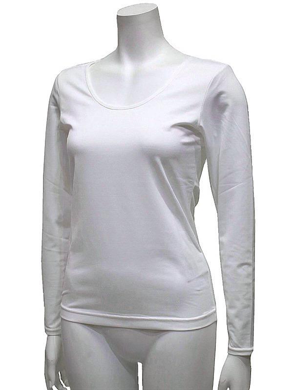 【40%OFF!セール】ブラック&ホワイト/Black&White/春夏/長袖クルーネックシャツ/アンダーシャツ /L_画像5
