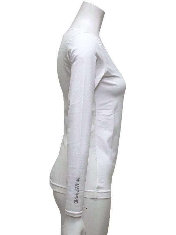 【40%OFF!セール】ブラック&ホワイト/Black&White/春夏/長袖クルーネックシャツ/アンダーシャツ /L_画像6