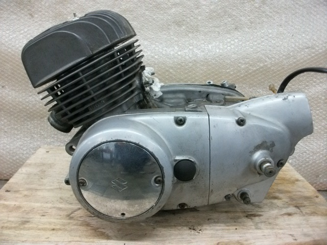 【BST】★スズキ T200 旧車 エンジン 実働 196cc_画像6