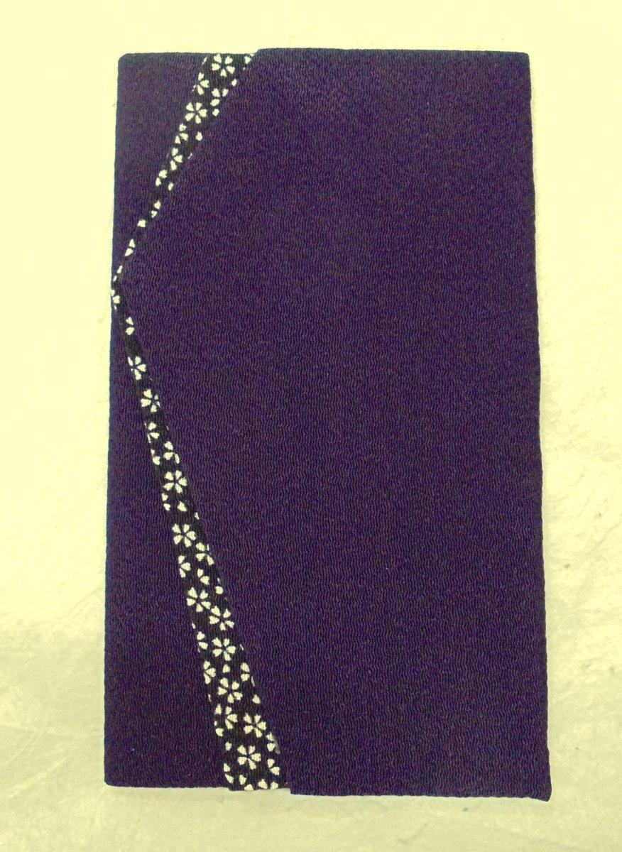 4863 祝儀袋 袱紗 *ご出産御祝*「紫紺・小桜」【わけあり】-_画像3