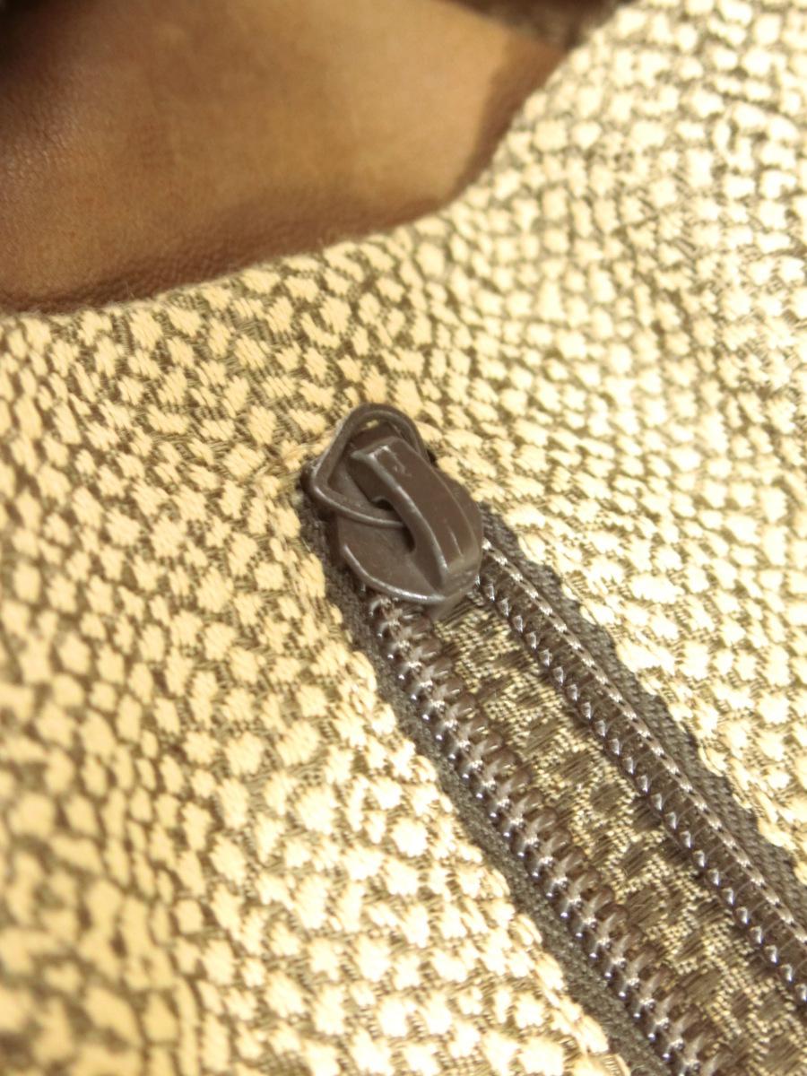 イタリア製 BORBONESE REDWALL 本革 スエード レザー OP うずら柄 マチ広 ハンド バッグ 鞄 ブラウン 茶 レディース SFR1901-370_画像8
