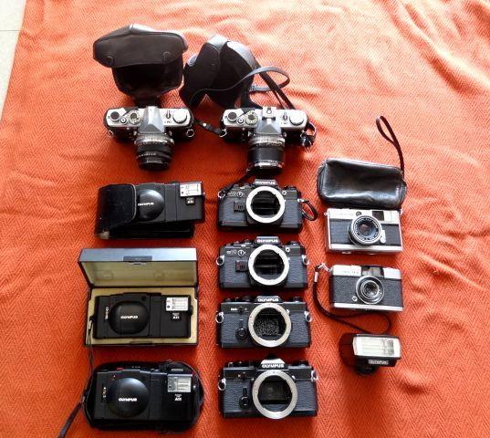 ジャンク!オリンパス カメラ・レンズ・カバー等セットで!・OM-1・OM-2・OM10・XA・XA2・OLYMPUS-PEN EED