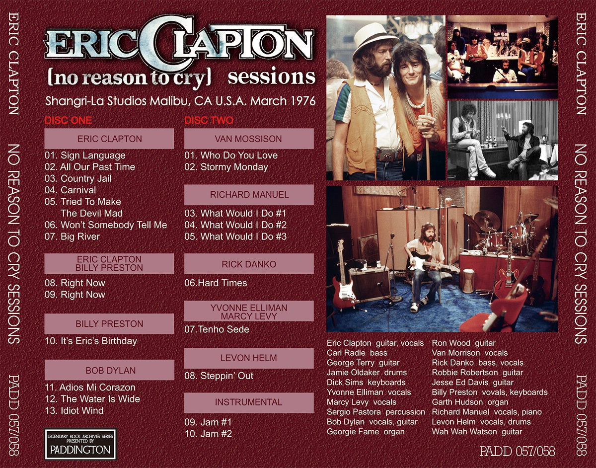ERIC CLAPTON NO REASON TO CRY SESSIONS 【2CD】_画像4