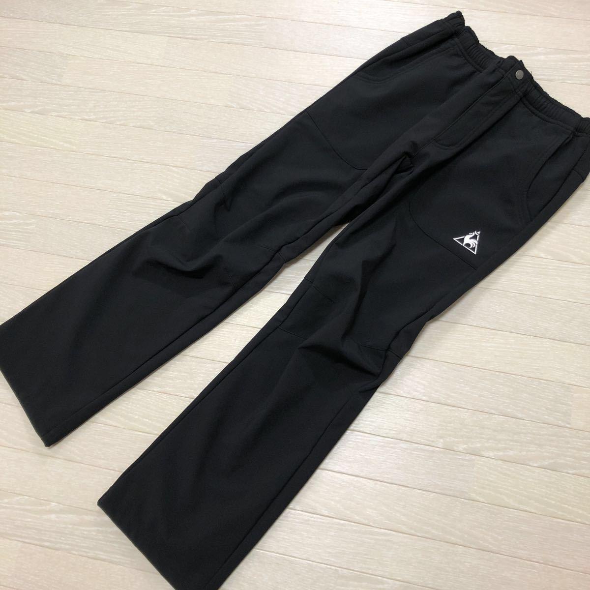 ルコック le coq sportif ウインタートレーニングパンツ QB-481153ウインドブレーカー ロングパンツ ゴルフ テニス 防寒 ブラック サイズL_画像1