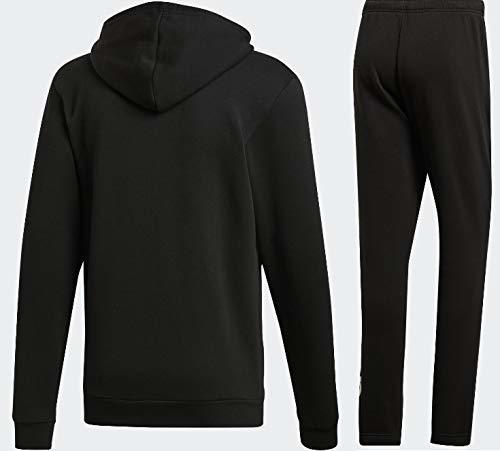 新品タグ付き Lサイズ 黒 ビッグロゴ アディダス ESSENTIALS MID 3ストライプス スウェットジャケット パーカー&パンツ 裏起毛 上下セット_画像8