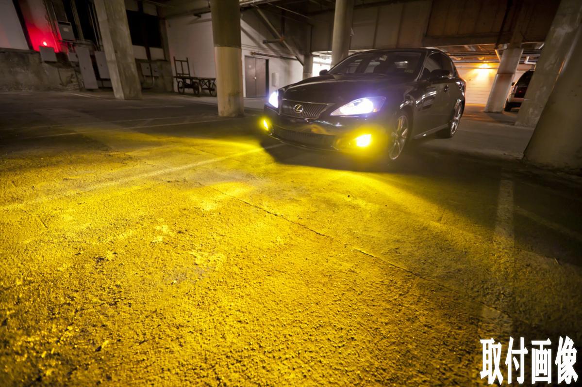 トヨタ◆保証 濃い黄色/イエロー フォグランプ 3000k LED HB4 9006◆ハイエース H22.7~H24.4 TRH200系 専用_画像3