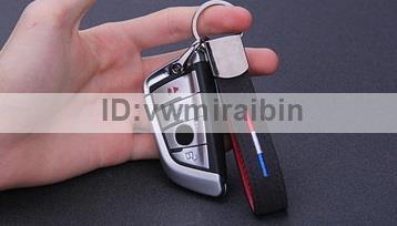 BMW クロム レザー ベルト キー チェーン F01F06F10F11F20F22F30F31F32F34F36E84F25F15F16E90E91E92E93E87E60E61M3M5M6X1X3X4X5X6 Mカラー_画像4