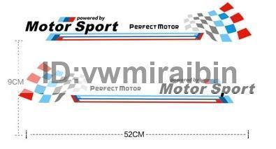 BMW モーター スポーツ ステッカー F01F06F10F11F12F20F22F30F31F32F34F36E84F25F15F16E90E91E92E93E87E60E61M3M5M6X1X3X4X5X6 黒文字_画像2