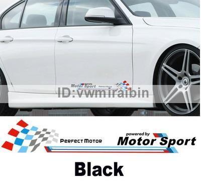 BMW モーター スポーツ ステッカー F01F06F10F11F12F20F22F30F31F32F34F36E84F25F15F16E90E91E92E93E87E60E61M3M5M6X1X3X4X5X6 黒文字_画像1