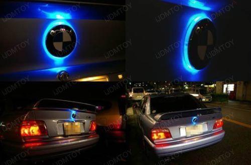 BMW 82mm エンブレム LED 加工 夜光 Mスポーツ 10F11E60E61E39E34E28E12F82E90E92E93E46E36E30E87E82M3M4 フロント リア  青 ブルー_画像3