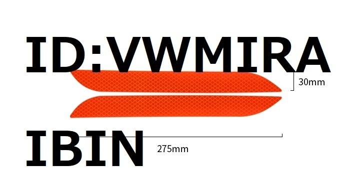 BMW リフレクター M F30F31F32F33F34E60E61E87E82E81E46E39E90E91E92E93E65E66E84E83E70E71F10F11F45F46F89 X1X3X4X5X6Z4M1M2M3M4M5M6 黄緑_画像3