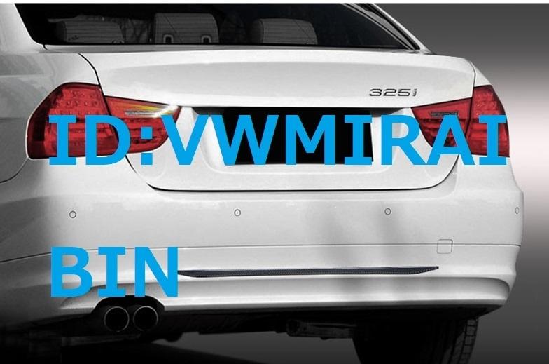 BMW E46E39E90E91E92E87E93E60E61E34F30F31F32F34E70E71F10F11F15F16E53X6X1X4X3X5M3M5M6 M カーボン柄 リア バンパー デカール_画像1
