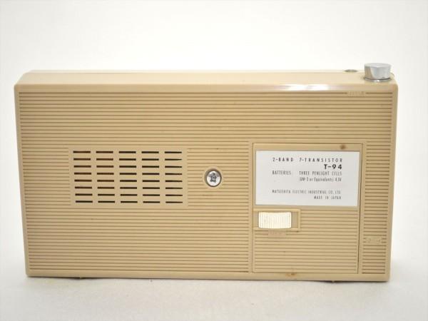 KM28●ジャンク品●SONY スカイセンサー6000 ICF-6000&ナショナル T-94 7TRANSISTOR 時計付 ラジオ 2点セット _画像8
