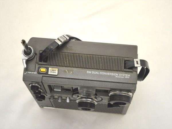 KM31●ジャンク●SONY スカイセンサー ICF-5900 5バンドマルチバンドレシーバー/BCLラジオ FM/MW/SW1/SW2/SW3_画像7