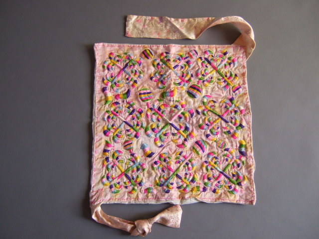 超逸品李朝-韓国繍褓(スボ)2ポジャギ布の古民藝チョガッポ婚礼儀礼_画像9