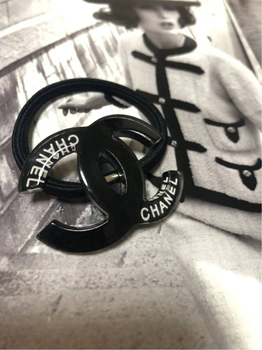 bc89c52decef 代購代標第一品牌- 樂淘letao - CHANEL シャネルヘアゴム☆ノベルティーシャネルマーク黒