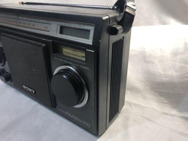希少 BCLラジオ SONY ソニー ICF-6500 マルチバンドレシーバー / FM/MW/SW1/SW2/SW3 / 昭和 レトロ 部品取り ジャンク_画像6
