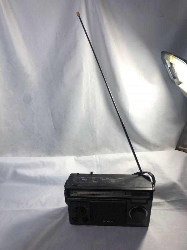 希少 BCLラジオ SONY ソニー ICF-6500 マルチバンドレシーバー / FM/MW/SW1/SW2/SW3 / 昭和 レトロ 部品取り ジャンク_画像4