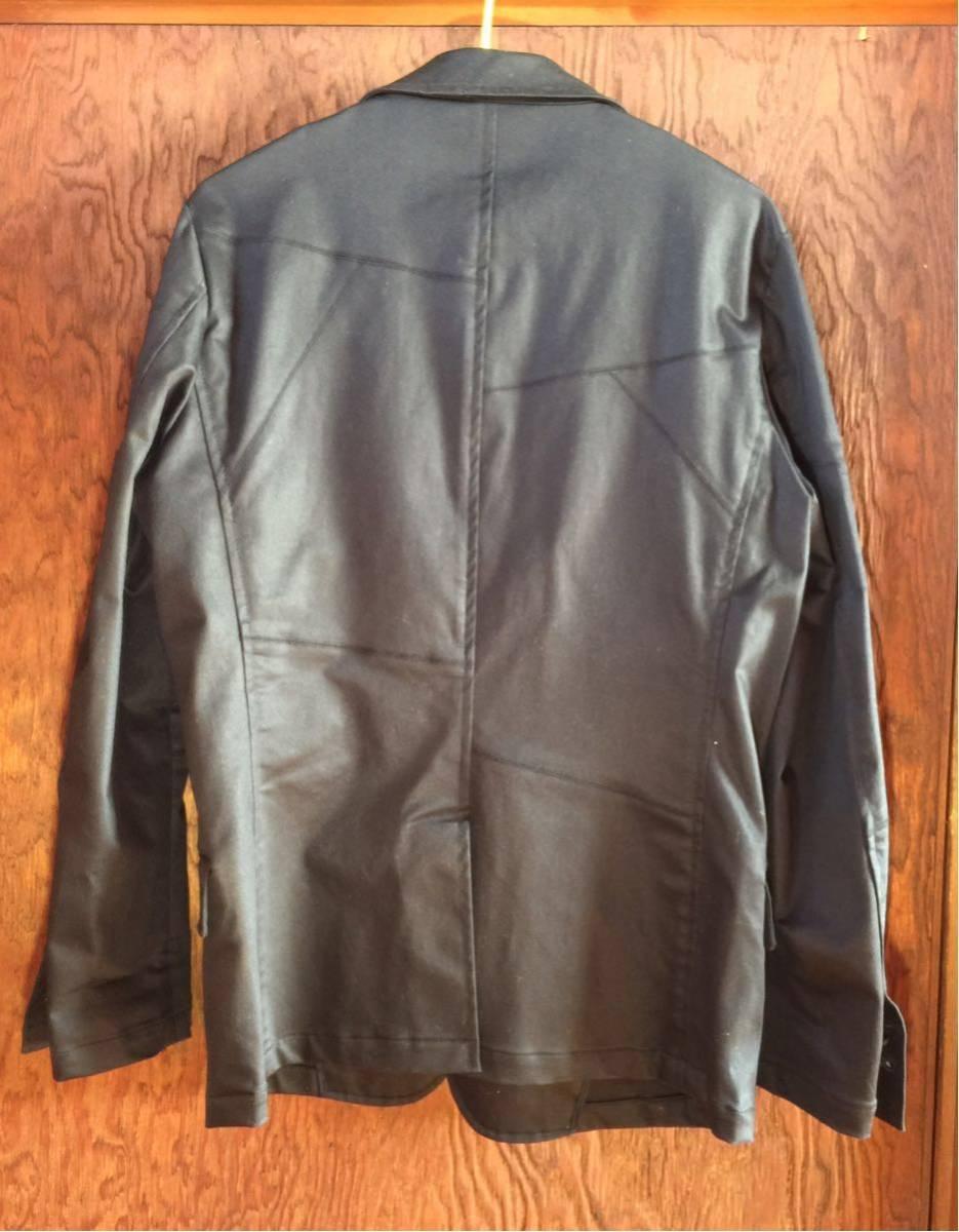 美品 EDGE RUPERT パッチワーク加工 テーラード ジャケット サイズL カラー黒色系 つぎはぎ加工 ワンボタン 本切羽仕様 ルパート_画像2