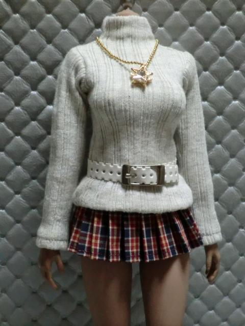 TBLeague・ファイセン着せ付け可:セーターとチェックのスカート 定形(外)郵便は送料無料です(^o^)_画像2