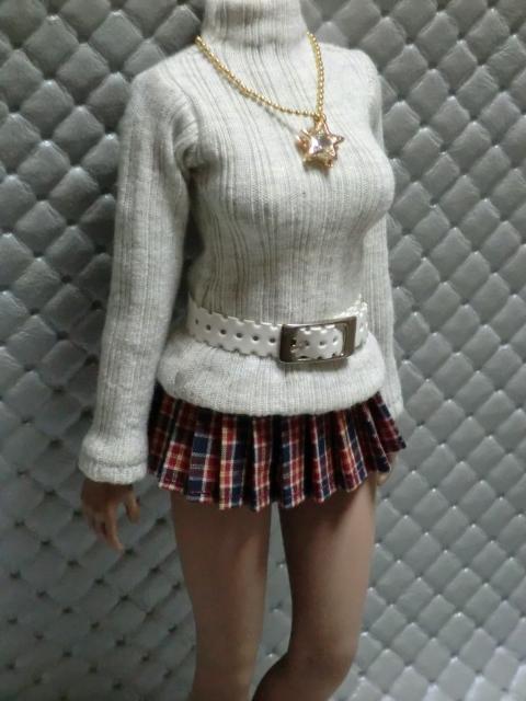 TBLeague・ファイセン着せ付け可:セーターとチェックのスカート 定形(外)郵便は送料無料です(^o^)