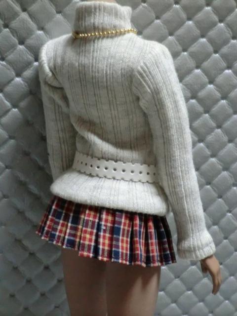 TBLeague・ファイセン着せ付け可:セーターとチェックのスカート 定形(外)郵便は送料無料です(^o^)_画像6