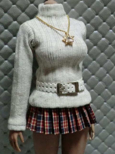 TBLeague・ファイセン着せ付け可:セーターとチェックのスカート 定形(外)郵便は送料無料です(^o^)_画像9