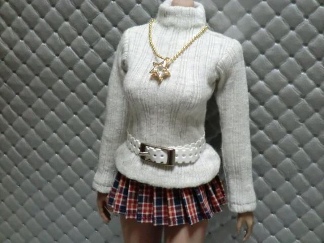 TBLeague・ファイセン着せ付け可:セーターとチェックのスカート 定形(外)郵便は送料無料です(^o^)_画像4