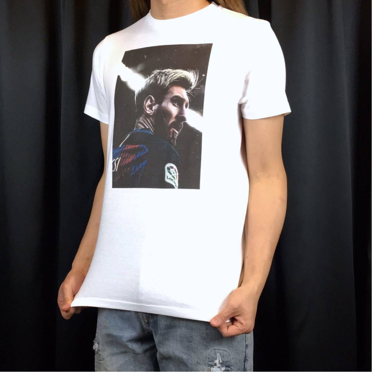 新品 サッカー メッシ Tシャツ S M L XL ワールドカップ バルセロナ アルゼンチン ロナウド ビッグ オーバー サイズ XXL~5XL 長袖 黒 対応_画像3