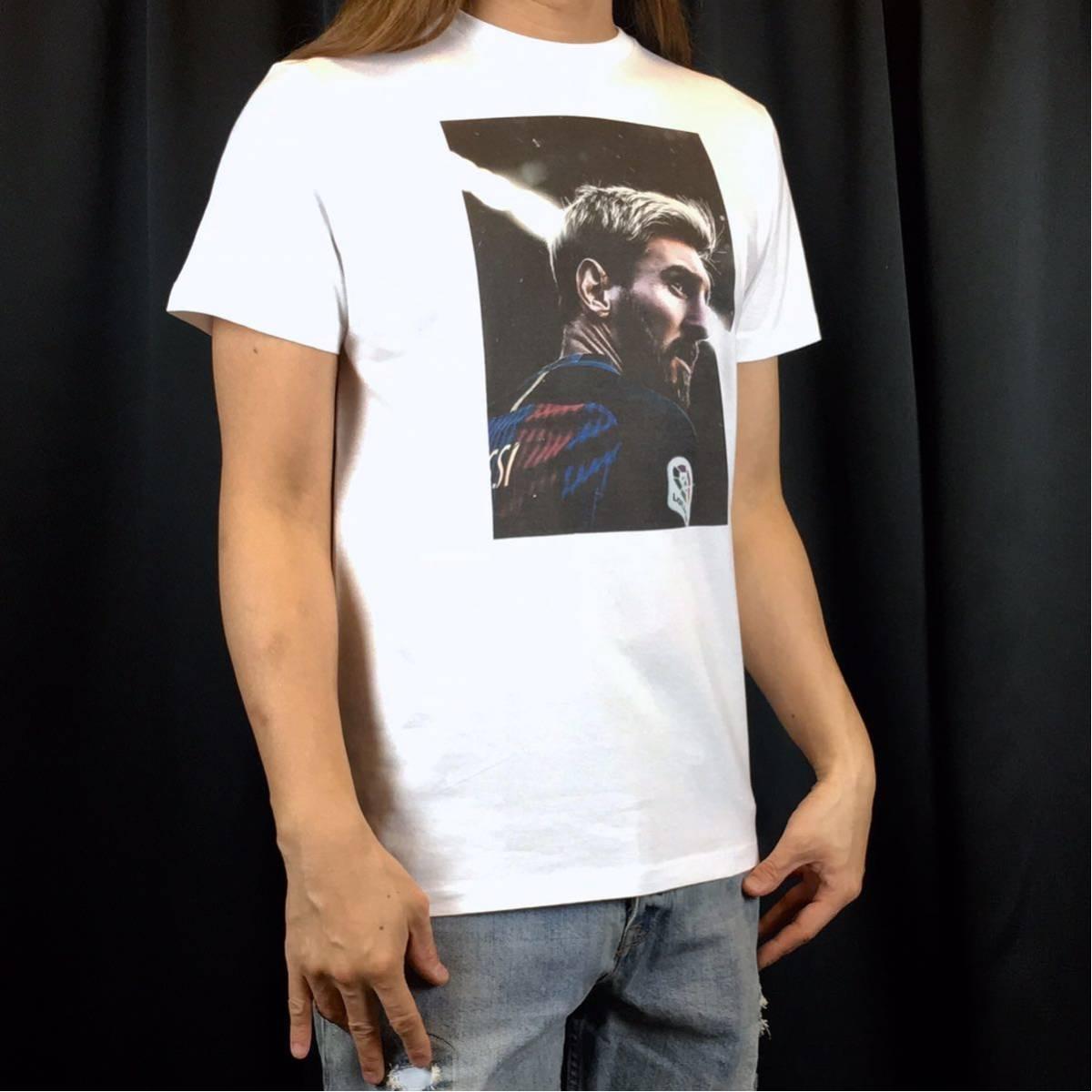 新品 サッカー メッシ Tシャツ S M L XL ワールドカップ バルセロナ アルゼンチン ロナウド ビッグ オーバー サイズ XXL~5XL 長袖 黒 対応_画像2