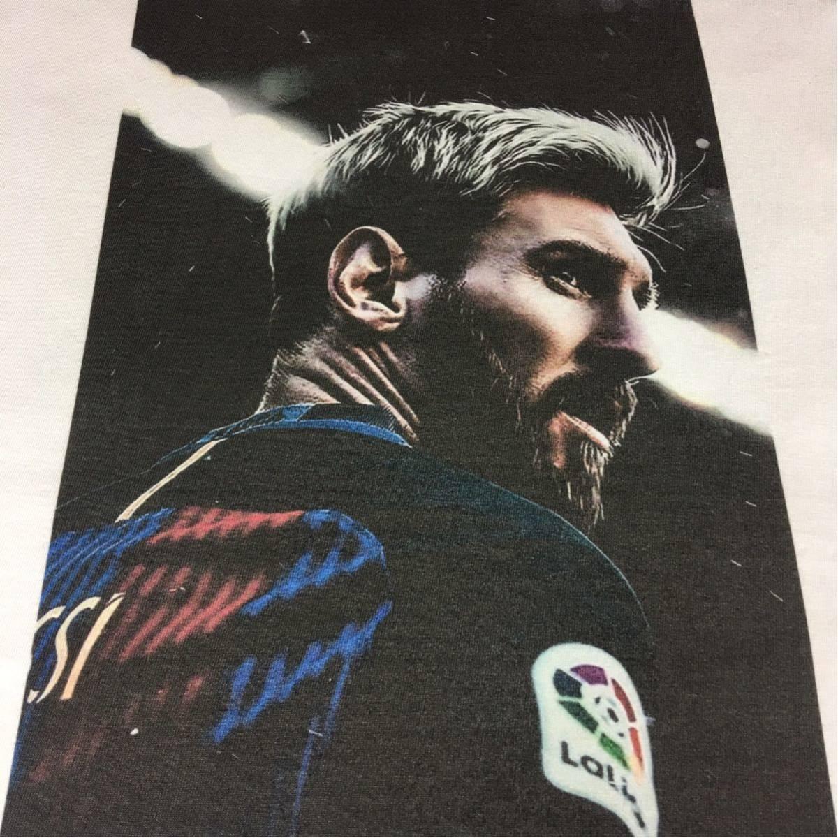 新品 サッカー メッシ Tシャツ S M L XL ワールドカップ バルセロナ アルゼンチン ロナウド ビッグ オーバー サイズ XXL~5XL 長袖 黒 対応_画像7