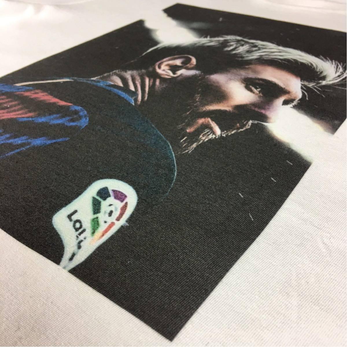 新品 サッカー メッシ Tシャツ S M L XL ワールドカップ バルセロナ アルゼンチン ロナウド ビッグ オーバー サイズ XXL~5XL 長袖 黒 対応_画像8