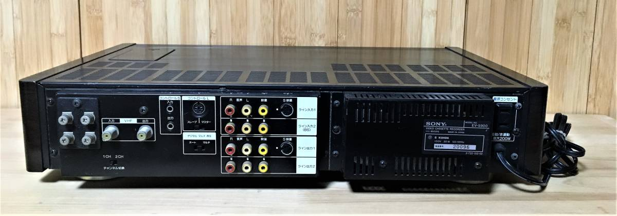 ソニーHI8ビデオカセットレコーダー EV-S900 ジャンク品_画像2